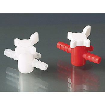 B¼rkle 8606-0080-EA Three-way valve, PP/PE, ˜ 7-9mm, NW 6mm, red/white ( Each of 1)