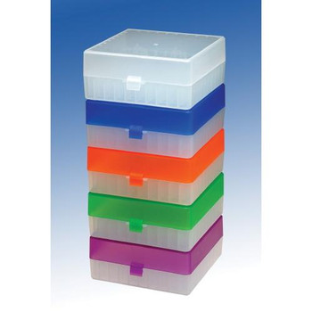 Argos Technologies 1231D11 100 Place Cryo Storage Boxes Cryo Freezer Box, Blue (Package of  5)