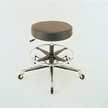 RS0H1-2RB-2E Cramer Round Laboratory Stools With Air Lift Stool Black Vinyl w / Casters Each of  1