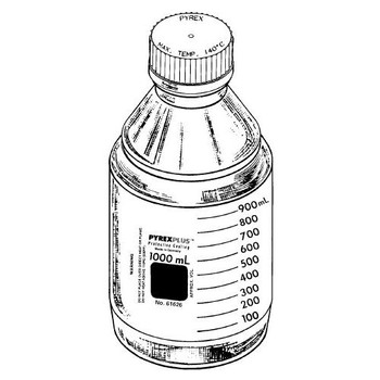 a55e6b4d22c7 1399-500 Corning Slim Line Media Storage Bottle, 500 mL (Case of 4)