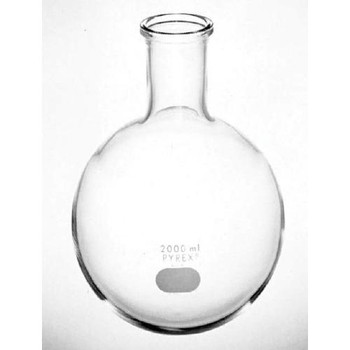 4260-250 Corning PYREX Round Bottom Boiling Flasks Pyrex Boiling Flasks, 250 ml, uses Stopper No. 5 (not included) Case of  1
