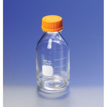 1395-45LTR Corning PYREX Media Storage Bottles Pouring Ring, Clear PP, 45 mm Case of  50