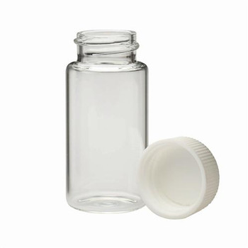 DWK Life Sciences (Wheaton) 986561 Glass Liquid Scintillation Vials Liquid Scintillation Vial, Glass, 20mL, with 24-400 PP Cap with Metal Foil/Pulp Liner (attached)  (Case of 500)