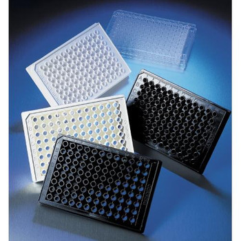 3881 Corning 96 Well Half-Area Thin-Bottom NBS Microplates, Black (Case of 100)