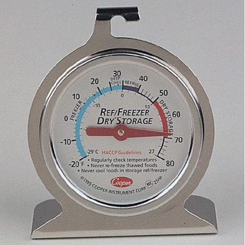 25HP-01-1 Cooper-Atkins Refrig. / Freezer / Dry Storage Thermometer, HACCP (Each of 1)