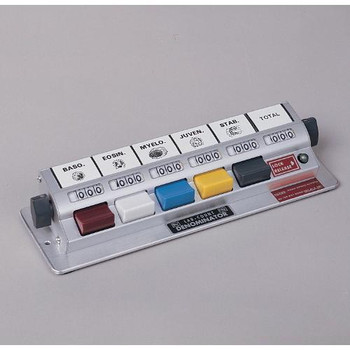Denominator 1X6LT Multiple Unit Counters With Totalizers Counter, 5-Key, plus Totalizer with Base  (Each of 1)