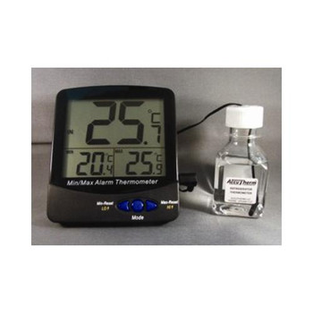 Thermco ACC895WDIG Digital Triple Display Thermometers Triple Display Large Digit Digital Thermometer, -50 To 70 C With Audible Alarm And NIST Traceable Certificate  (Each of 1)