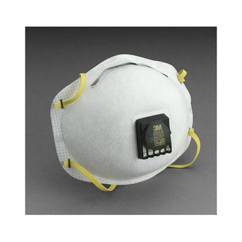 142-8515 3M Safety 3M 8515 N95 Particulate Disposable Respirator With Cool Flow Exhalation Valve And M-Noseclip (Case of 80)