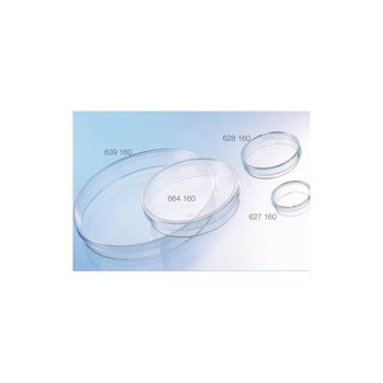 Greiner Bio-One 639160 CELLSTAR Cell Culture Dishes CELLSTAR Cell Culture Dish, TC Treated, PS, 145 x 20 mm, 141 cm Squared, with Lid, Vented (6), Sterile  (Case of 120)