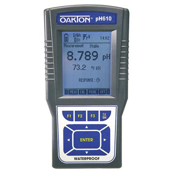 Oakton WD-35418-10 Waterproof pH 600 Series Meters pH610 Meter and Electrode  (Each of 1)