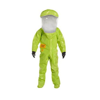 TK586TLYMD000100 DuPont Tychem 10000 Encapsulated Training Suits with Front Entry & Taped Seams Tychem 10000 Encapsulated Training Suit, Expanded Back, Front Entry, Taped Seams, Lime Yellow, MD Case of  1