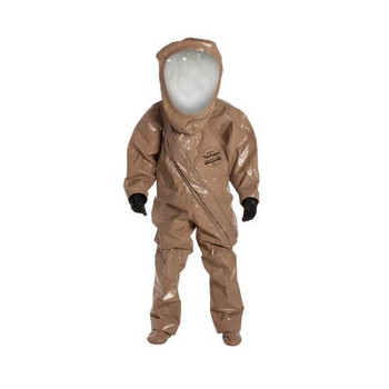 RC550TTNMD00017W DuPont Tychem RESPONDER CSM Encapsulated Level A Suits Tychem RESPONDER CSM Encapsulated Level A Suit, Expanded Back, Front Entry, Tan, MD (with pass-through Interspiro #33689006, right front side) Case of  1