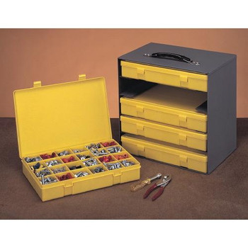 312 Durham Manufacturing Plastic Compartment Boxes With Metal Racks Locking Hinge Each of  1