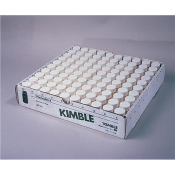 74510-20 DWK Life Sciences (Kimble) Disposable Borosilicate Glass Scintillation Vials Vial 61 x 28mm Case of  500
