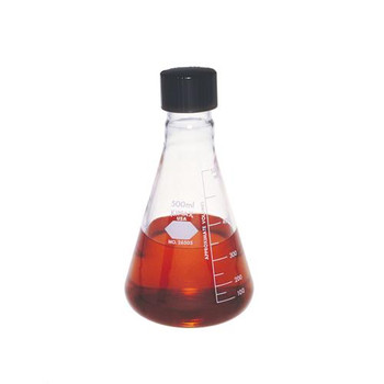 26505-1000 DWK Life Sciences (Kimble) Erlenmeyer Flasks with Screw Caps, with Capacity Scales Flask, Erlenmeyer, Screw Cap, 1000 ml Package of  6