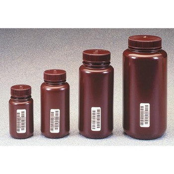 Thermo Scientific Nalgene N301-0125  Bottle Wide Mouth Amber 125 ml  (Case of 72)