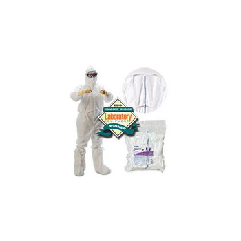 Kimberly Clark 31683 KIMTECH PURE* A5 Sterile Cleanroom Boots A5 Sterile Cleanroom Boots, w/ Grasp Ties and Vinyl Edge, S/M  (Case of 100)