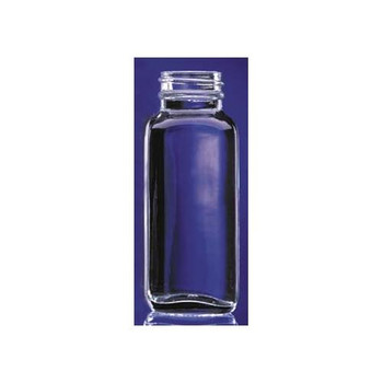 W217880 DWK Life Sciences (Wheaton) Clear French Square Glass Bottles With Black Phenolic Cap with Rubber Liner 1000mL French Square Type III Glass Bottle, Clear, with Black Phenolic Rubber Lined Cap Case of  12