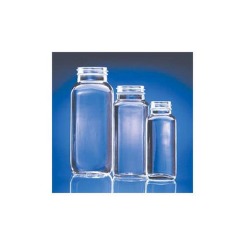 W217882 DWK Life Sciences (Wheaton) Clear French Square Glass Bottles, Valu-Bulk 1000mL French Square Type III Glass Bottle, Clear, w/o Cap Case of  24