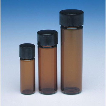 W224604 DWK Life Sciences (Wheaton) Amber Sample Vials In Lab File 20 ml Vial, 24-400, Amber, Lab File, TFE Lnr Case of  72