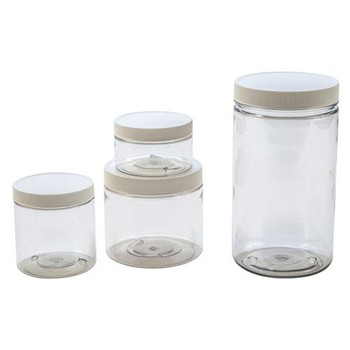 426315-0032 Dynalon Straight-Side Containers Straight-Side Container, PETE, PP White Closure, 32oz / 1000mL Package of  6