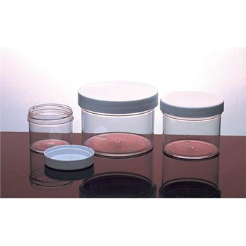 421215 Dynalon Straight-Side Polystyrene Containers Jars Polystyrene 4 Oz 70 MM Package of  12