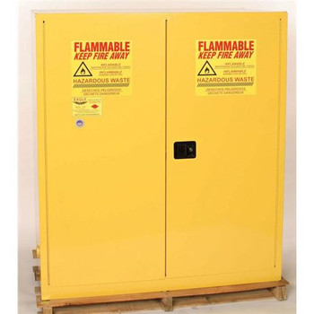 HAZ5510 Eagle Manufacturing Company Flammable / Hazardous Waste Cabinets HAZ-MAT Safety Cabinet, 110 Gal. Yellow, Two Door, Self Close Each of  1