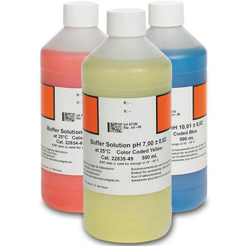 Hach 2947600 pH Buffer Solution Kit, Color-coded, pH 4.01, pH 7.00 and pH 10.01, 500mL each  (Each of 1)