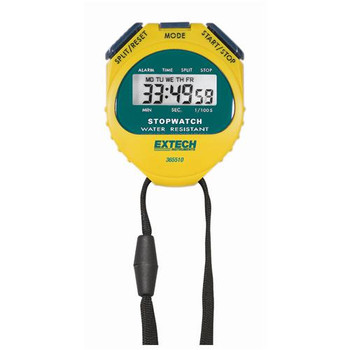 365515-NIST Extech Stopwatch/Clock Digital Stopwatch/Clock with Backlit Display with NIST Each of  1