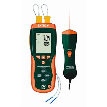 EA15 Extech Differential Thermometer Datalogger + IR Thermometer (Each of 1)