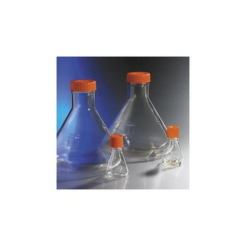 Corning 431403 Polycarbonate Baffled Erlenmeyer Flasks Flask, Erlenmeyer, 1L, Baffled, Vent, S, 1/25  (Case of 25)