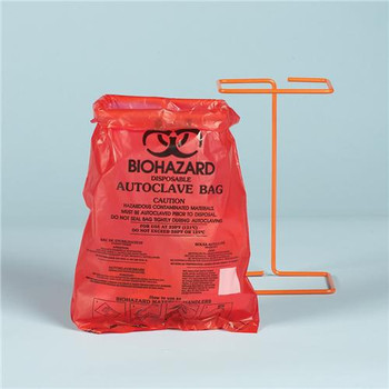 F13166-0000 Bel-Art Products Scienceware Bag, HDPE, Wr, Bench-Top, Biohazard, 8-1/2 X 11 (Package of 100)