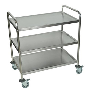 Luxor ST-3 Stainless Steel Cart 3 Shelves,22 Gauge Stainless Steel Cart, 3 Shelves, 22 Gauge  (Each of 1)