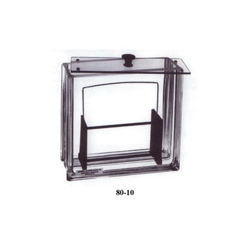 80-10 General Glass Blowing Rectangular Developing Chambers Tank with Non-Slip Lid Each of  1