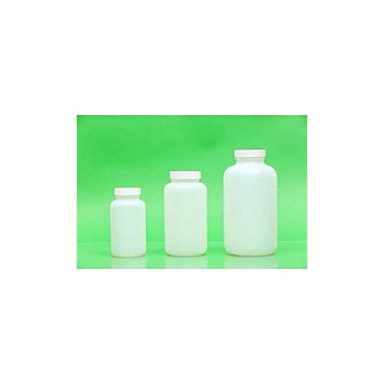 07-500WMF21963 Greenwood Products Natural HDPE Wide Mouth Packer Bottles, Certified 500mL Natural HDPE Wide Mouth Packer, Assembled with 53-400 F-217 Foam Lined Cap, Certified, Bulk Case Case of  196