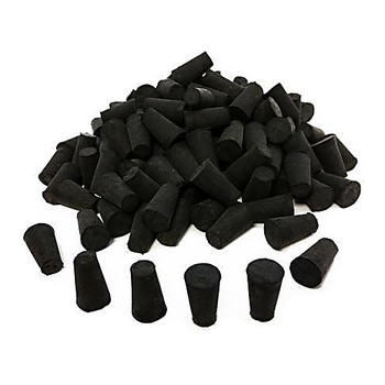 RS-10-10 GSC International, Inc. Black Rubber Stoppers Stoppers Rubber, Black #10 Solid Package of  1
