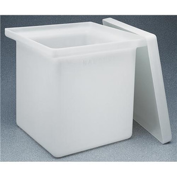 Thermo Scientific Nalgene 14100-0015 Heavy-Duty Rectangular Tanks Rectangular Tank with Cover LLDPE 11 Gal / 18 X 12 X 12  (Each of 1)