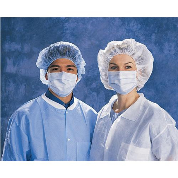 Epic Medical 40578-RS5 Cleanroom Face Masks Face Mask, Blue, Round Elastic Latex-Free Earloop  (Bag of 50)