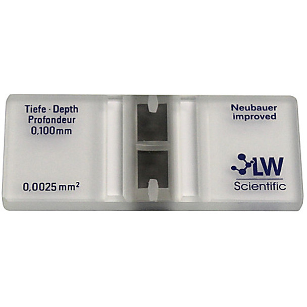 CTP-CVR7-GL77 LW Scientific Hemacytometer Cover Slips for Hemacytometer, Glass, 20x26mm, 0.35mm thickness Box of  10