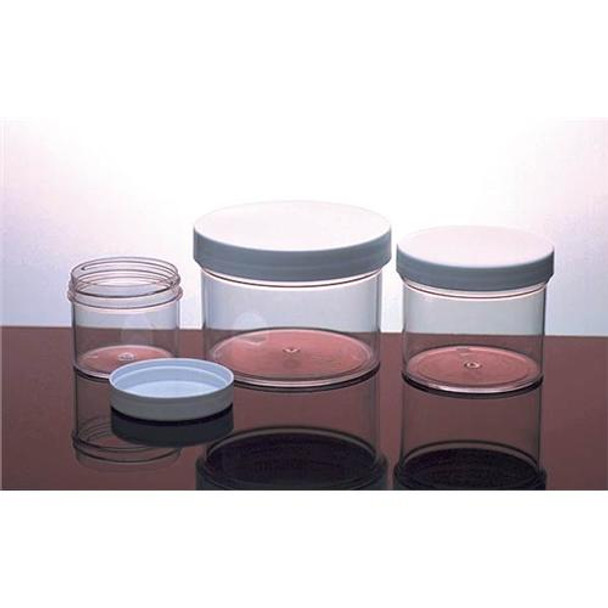 Dynalon 421225 Straight-Side Polystyrene Containers Jars Polystyrene 8 Oz 89 MM  (Package of 6)
