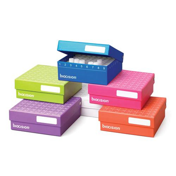 BioCision BCS-206MC TruCool???? Hinged CryoBoxes, 81-place, multicolor (Package of 5)