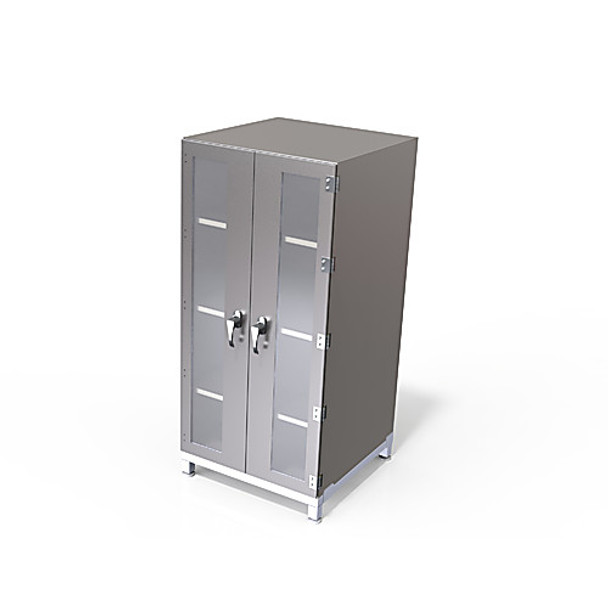 SCA-NB-216 Sapphire Cleanrooms Cleanroom Storage Cabinets Storage Cabinet, without Blower, Acrylic, 2 Chamber, 25\ Each of  1