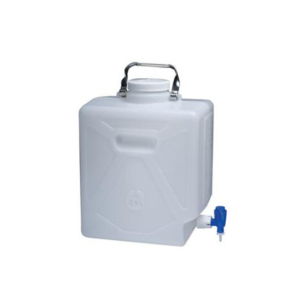 Thermo Scientific Nalgene 2320-0020 High-Density Polyethylene Carboys Rectangular Carboy With Spigot HDPE 9 L  (Each of 1)