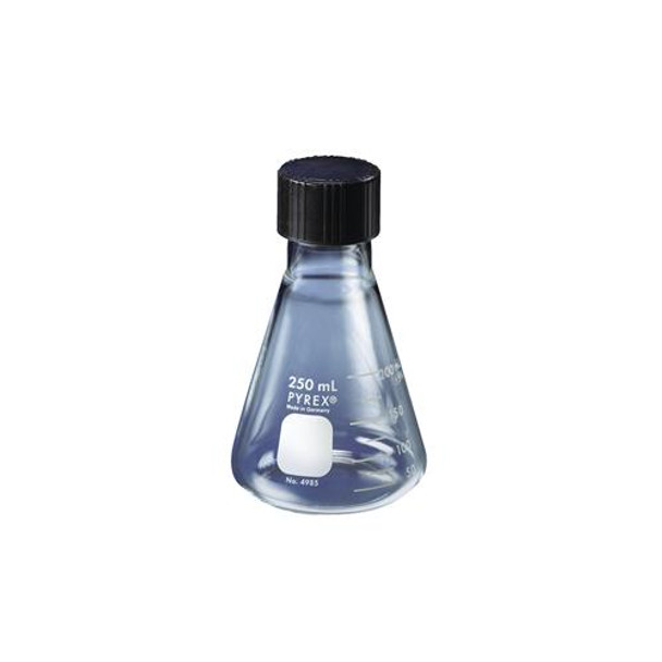 Corning 4985-1L PYREX Graduated Erlenmeyer Flasks With Screw Caps Flask, Erlenmeyer, Screw Cap, 1000 ml  (Package of 6)