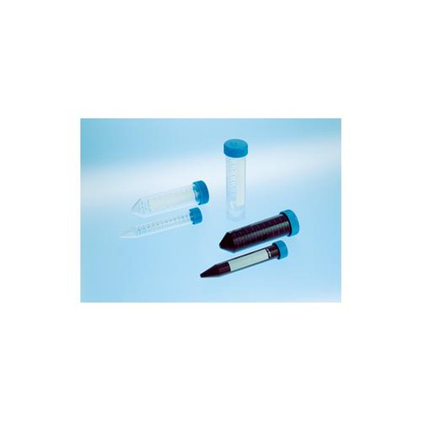 Greiner Bio-One 188261 CELLSTAR Centrifuge Tubes CELLSTAR Centrifuge Tube, 15mL, 17x120mm, Sterile, PPN, Blue Screw Cap, Conical (V) Bottom, With Graduations and ID Field, 50 per Box  (Case of 500)