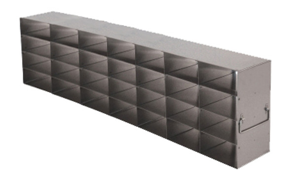 RFS2574A Argos Technologies Upright Freezer Rack for 25 Place Slide Boxes, Holds 28 Boxes, Stainless Steel (1 Rack)