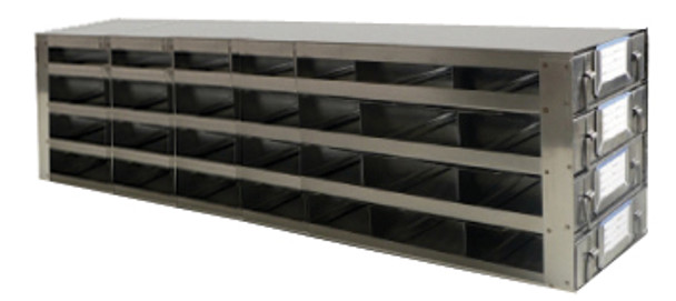 RDS2574A Argos Technologies Upright Freezer Drawer Rack for 25 Place Slide Boxes, Holds 28 Boxes, Stainless Steel (1 Rack)
