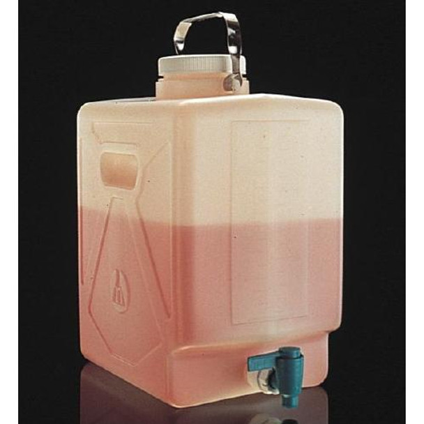 Thermo Scientific Nalgene DS2327-0050 Fluorinated High-Density Polyethylene Carboys Fluorinated Rectangular Carboy w / Spigot FLPE 20 L  (Package of 1)