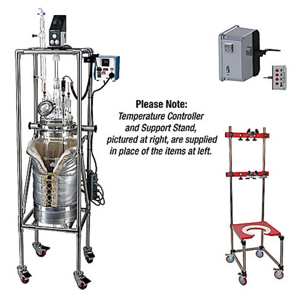 Ace Glass 12846-15-EA 20L Unjacketed Reactor Base System for Flange Mounted Motors ( Each of 1)