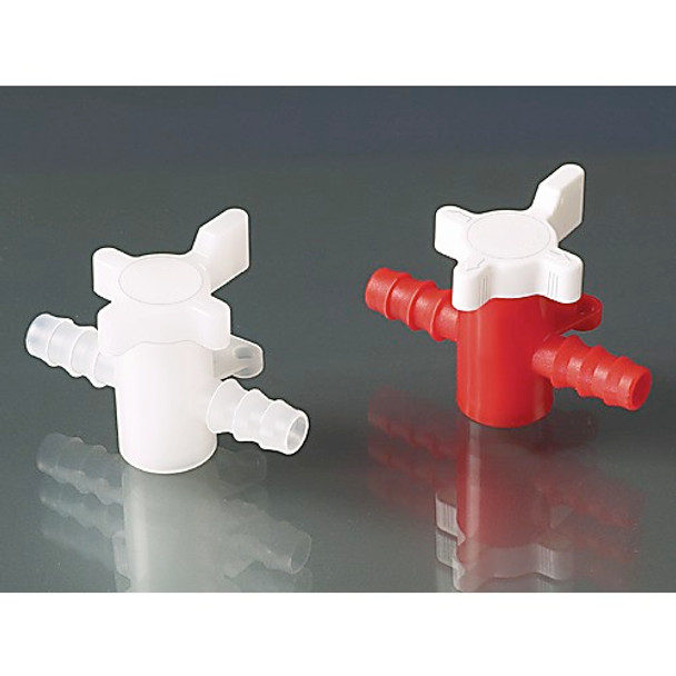 B¼rkle 8605-0080-EA Two-way valve, PP/PE, ˜ 7-9 mm, NW 6 mm, red/white ( Each of 1)